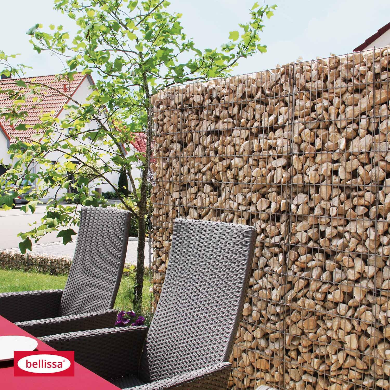 bellissa gabionen mauer limes mit kalkstein f llung 115 cm x 23 cm x 150 cm kaufen bei obi. Black Bedroom Furniture Sets. Home Design Ideas
