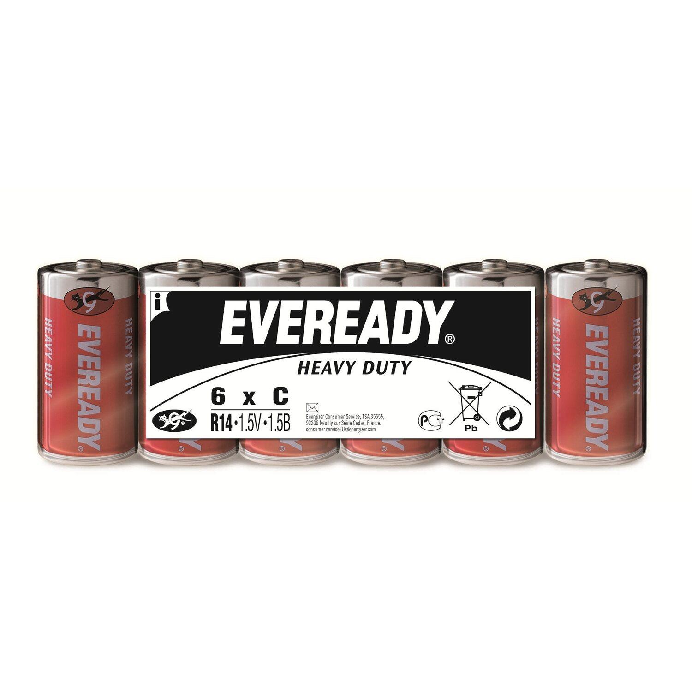 Eveready  Heavy Duty Kohle-Zink Batterie Baby C 6 Stück