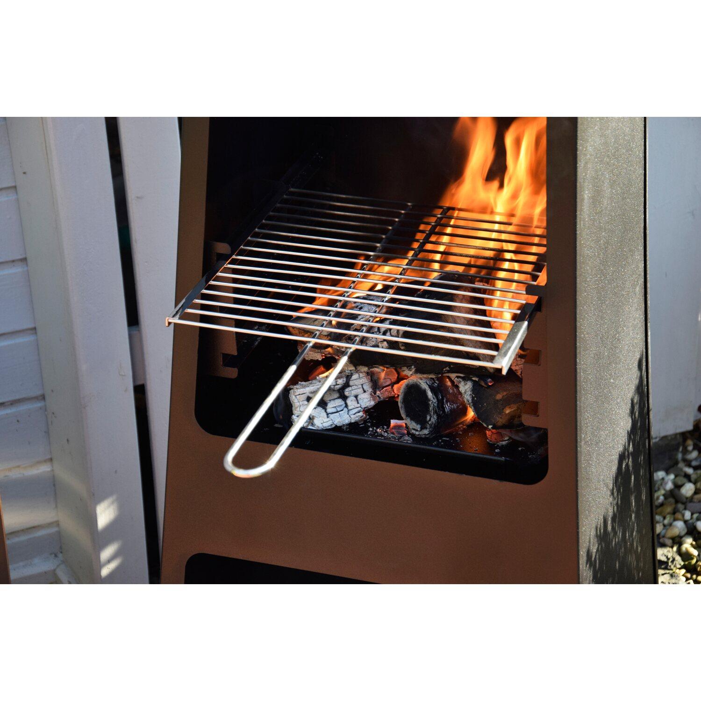 dobar metall gartenkamin mit grill rost und stauraum schwarz kaufen bei obi. Black Bedroom Furniture Sets. Home Design Ideas