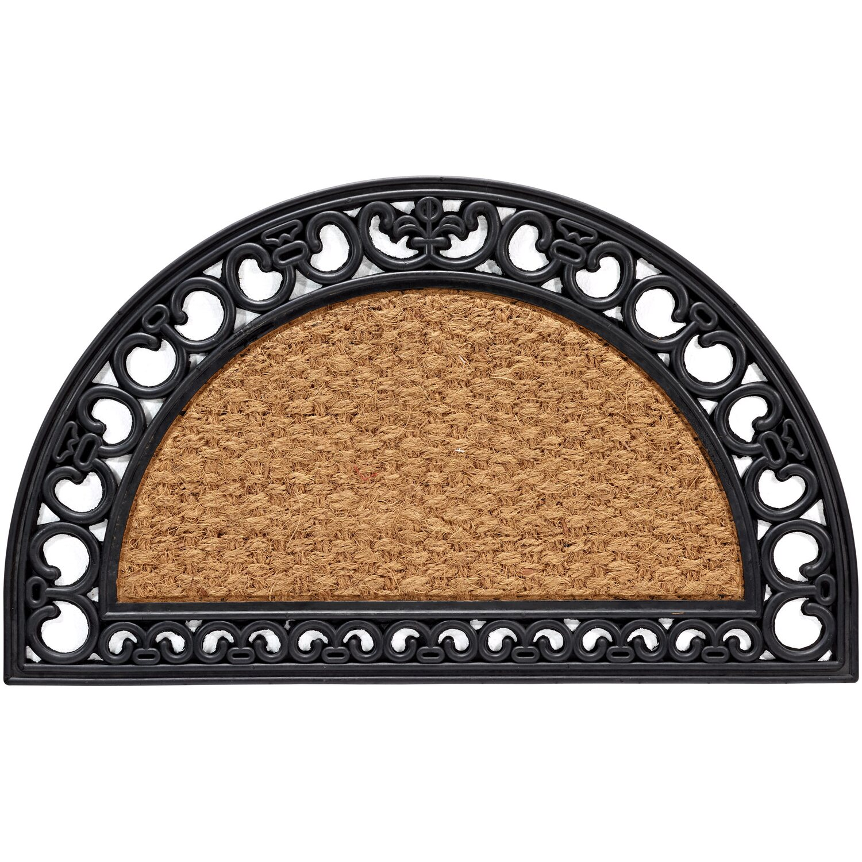 gummi kokosmatte natur halbrund 45 cm x 75 cm kaufen bei obi. Black Bedroom Furniture Sets. Home Design Ideas