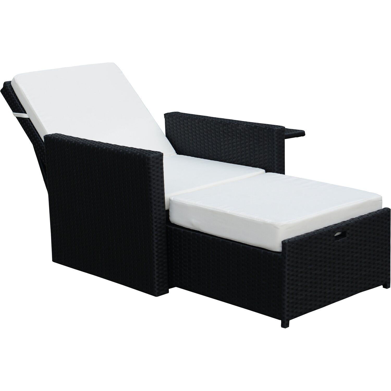 sonnenliege polyrattan stunning liege somalia polyrattan dunkelbraun with sonnenliege. Black Bedroom Furniture Sets. Home Design Ideas