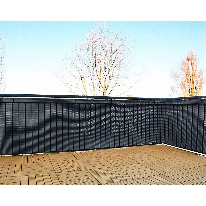 Gartenfreude Polyrattan Sichtschutz 500 Cm X 90 Cm Anthrazit