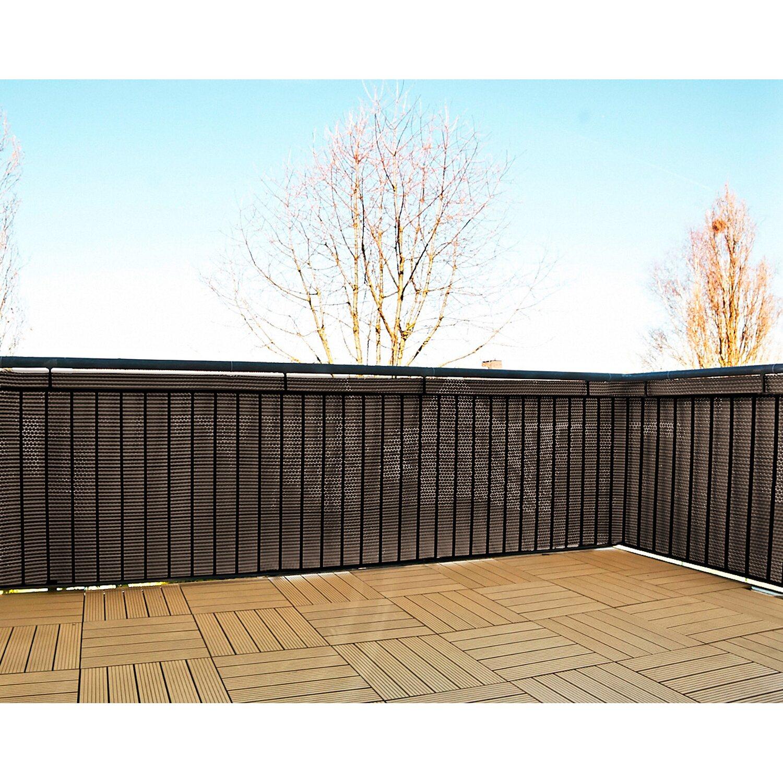 gartenfreude polyrattan sichtschutz 500 cm x 75 cm. Black Bedroom Furniture Sets. Home Design Ideas