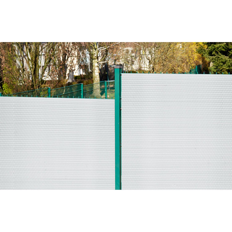 Gartenfreude Polyrattan Sichtschutz 300 cm x 75 cm Weiß kaufen bei OBI