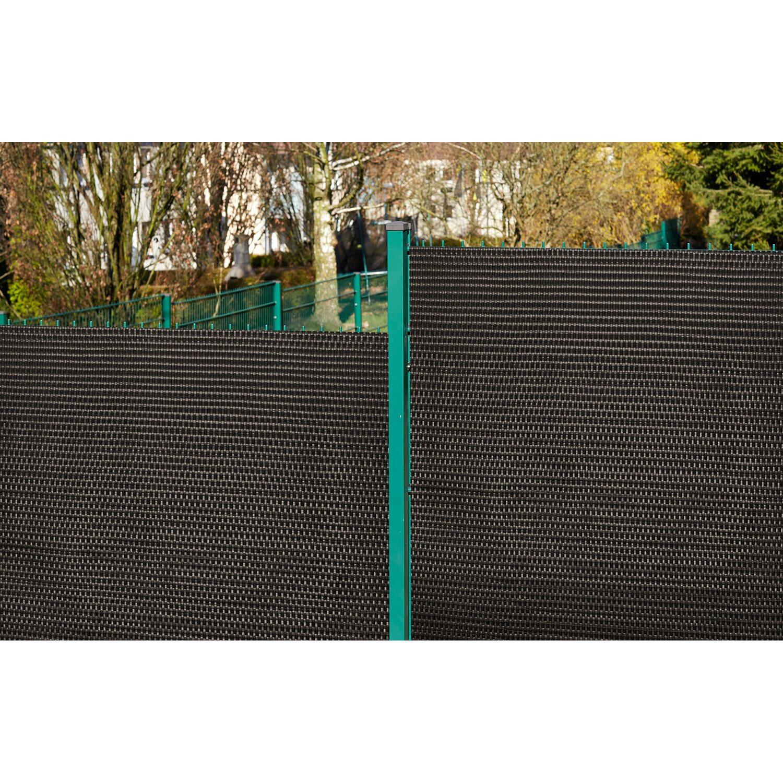 Gartenfreude Polyrattan Sichtschutz 300 cm x 75 cm Bicolour Braun