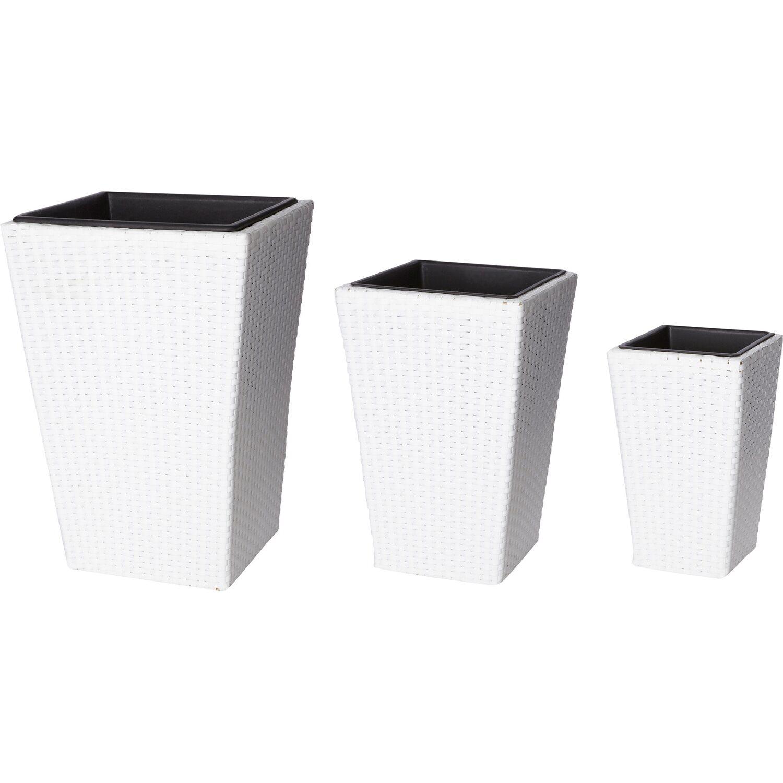 gartenfreude pflanzk bel polyrattan wei gr e xl 3er set kaufen bei obi. Black Bedroom Furniture Sets. Home Design Ideas