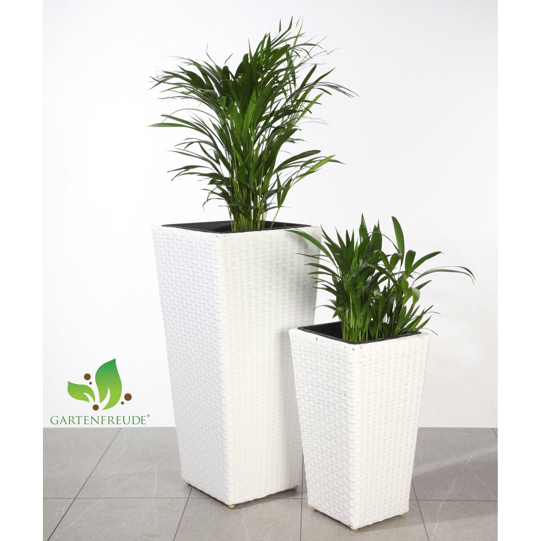 gartenfreude pflanzk bel polyrattan wei verschiedene gr en 2er set kaufen bei obi. Black Bedroom Furniture Sets. Home Design Ideas
