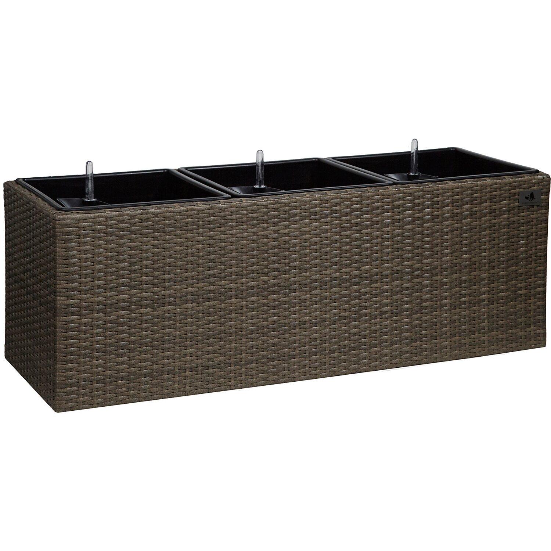 gartenfreude pflanzk bel polyrattan 102 cm x 36 cm cappuccino kaufen bei obi. Black Bedroom Furniture Sets. Home Design Ideas