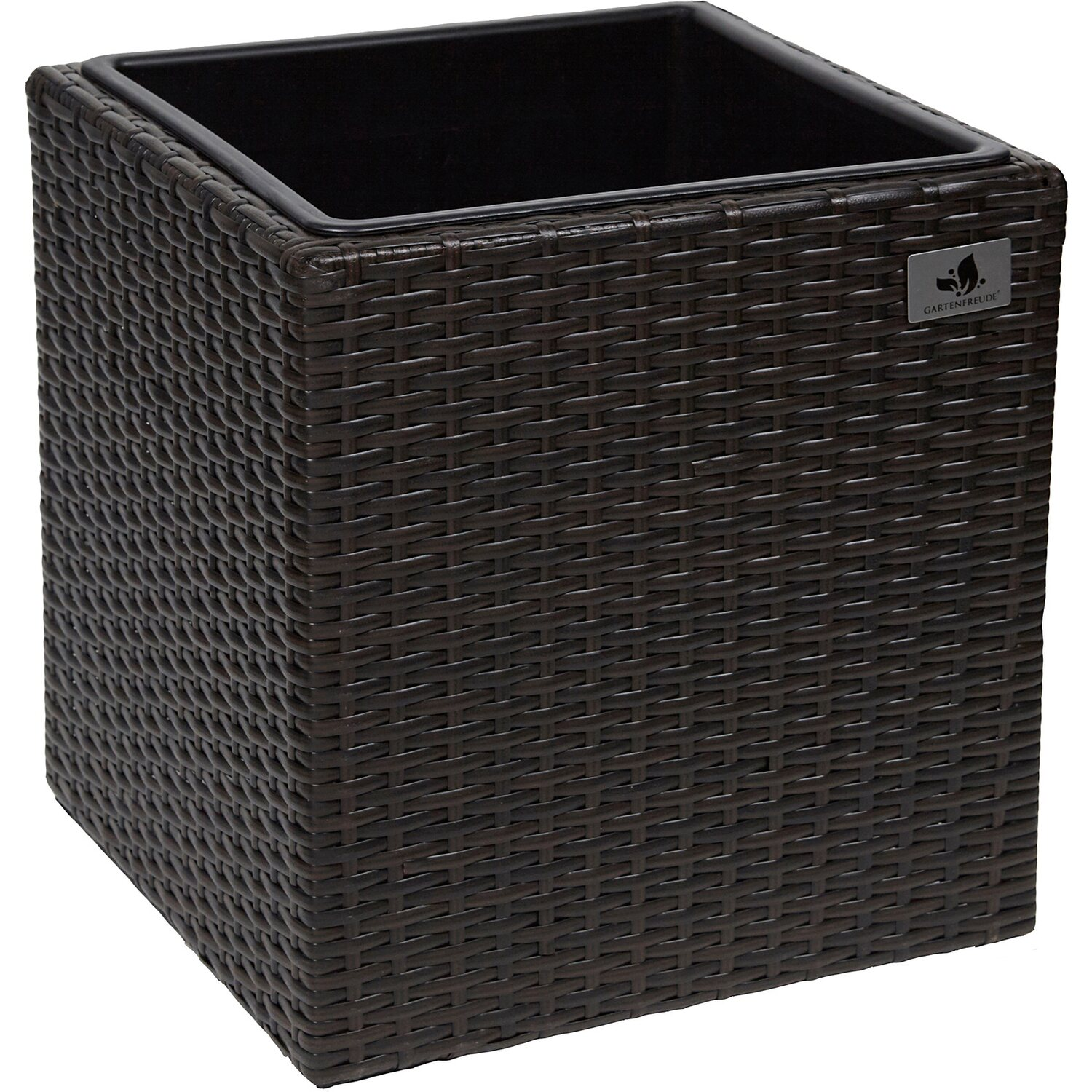 gartenfreude pflanzk bel polyrattan 36 cm x 36 cm bicolour braun kaufen bei obi. Black Bedroom Furniture Sets. Home Design Ideas