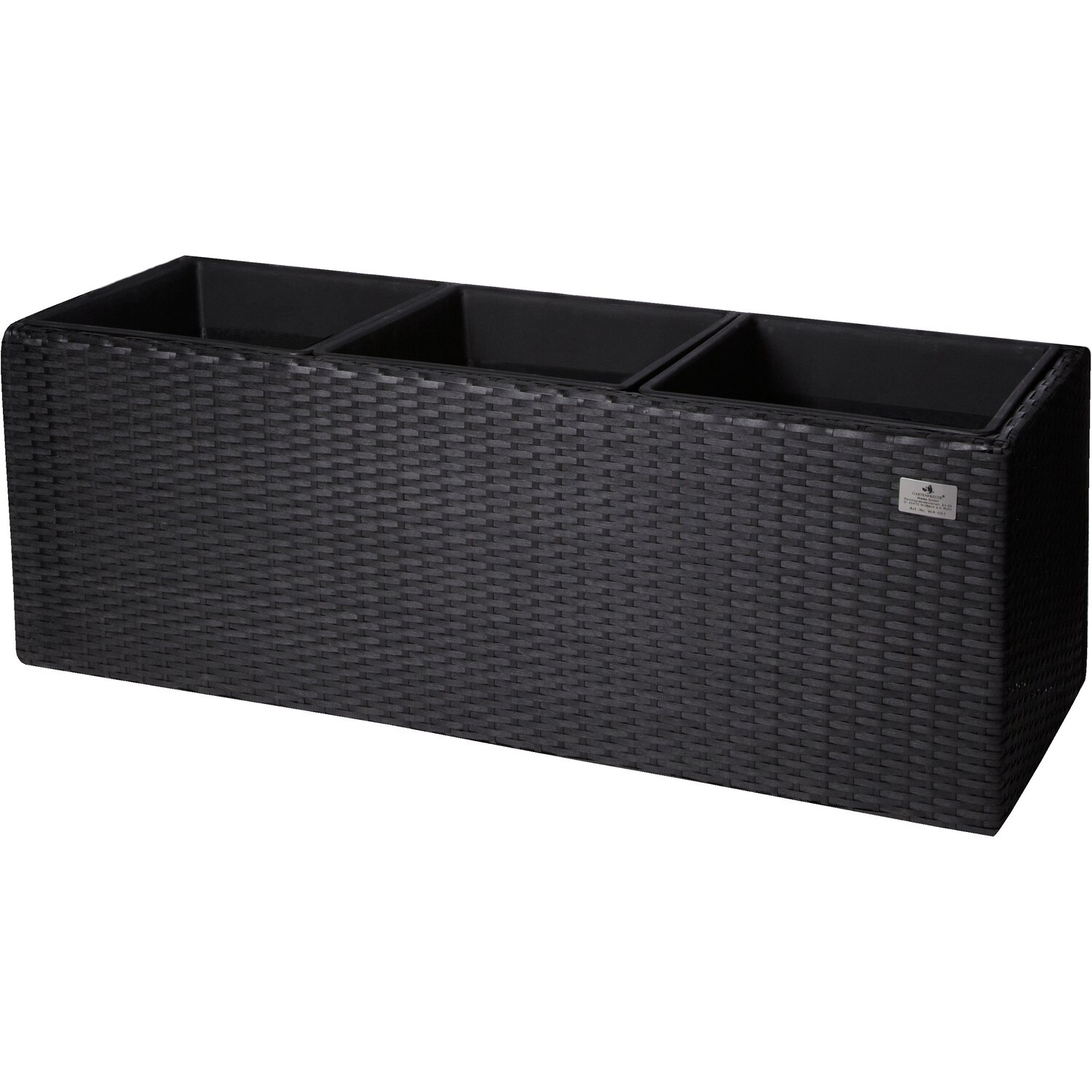gartenfreude pflanzk bel polyrattan 76 cm x 26 cm anthrazit kaufen bei obi. Black Bedroom Furniture Sets. Home Design Ideas