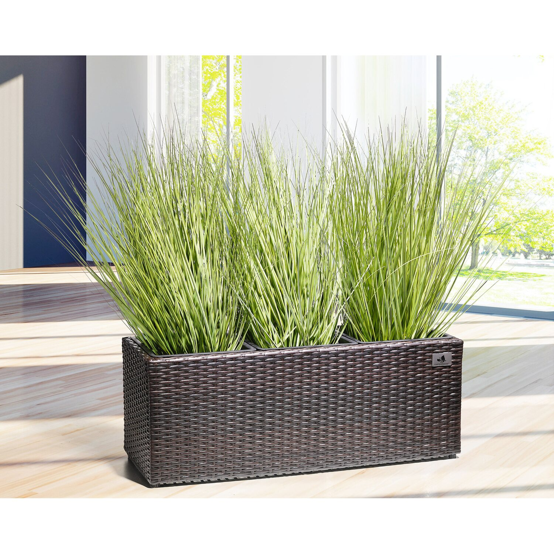 gartenfreude pflanzk bel polyrattan 76 cm x 26 cm bicolour braun kaufen bei obi. Black Bedroom Furniture Sets. Home Design Ideas