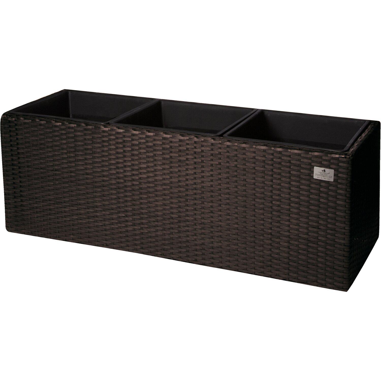 gartenfreude pflanzk bel polyrattan 76 cm x 26 cm mocca kaufen bei obi. Black Bedroom Furniture Sets. Home Design Ideas