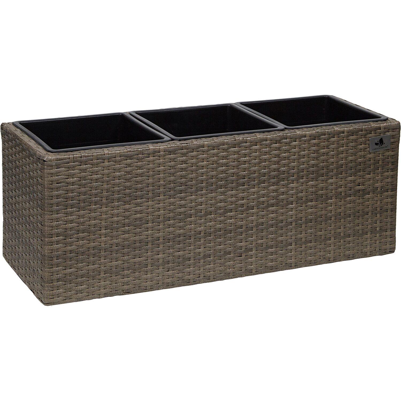 gartenfreude pflanzk bel polyrattan 76 cm x 26 cm. Black Bedroom Furniture Sets. Home Design Ideas