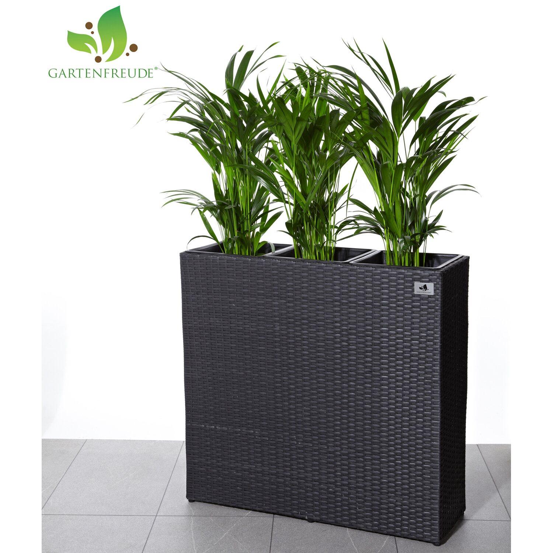 gartenfreude raumteiler pflanzk bel polyrattan 76 cm x 26 cm anthrazit kaufen bei obi. Black Bedroom Furniture Sets. Home Design Ideas