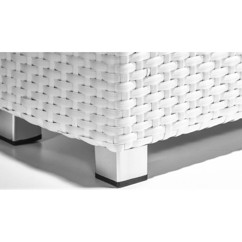 Gartenfreude Raumteiler Pflanzkübel Polyrattan 76 cm x 26 cm Weiß ...