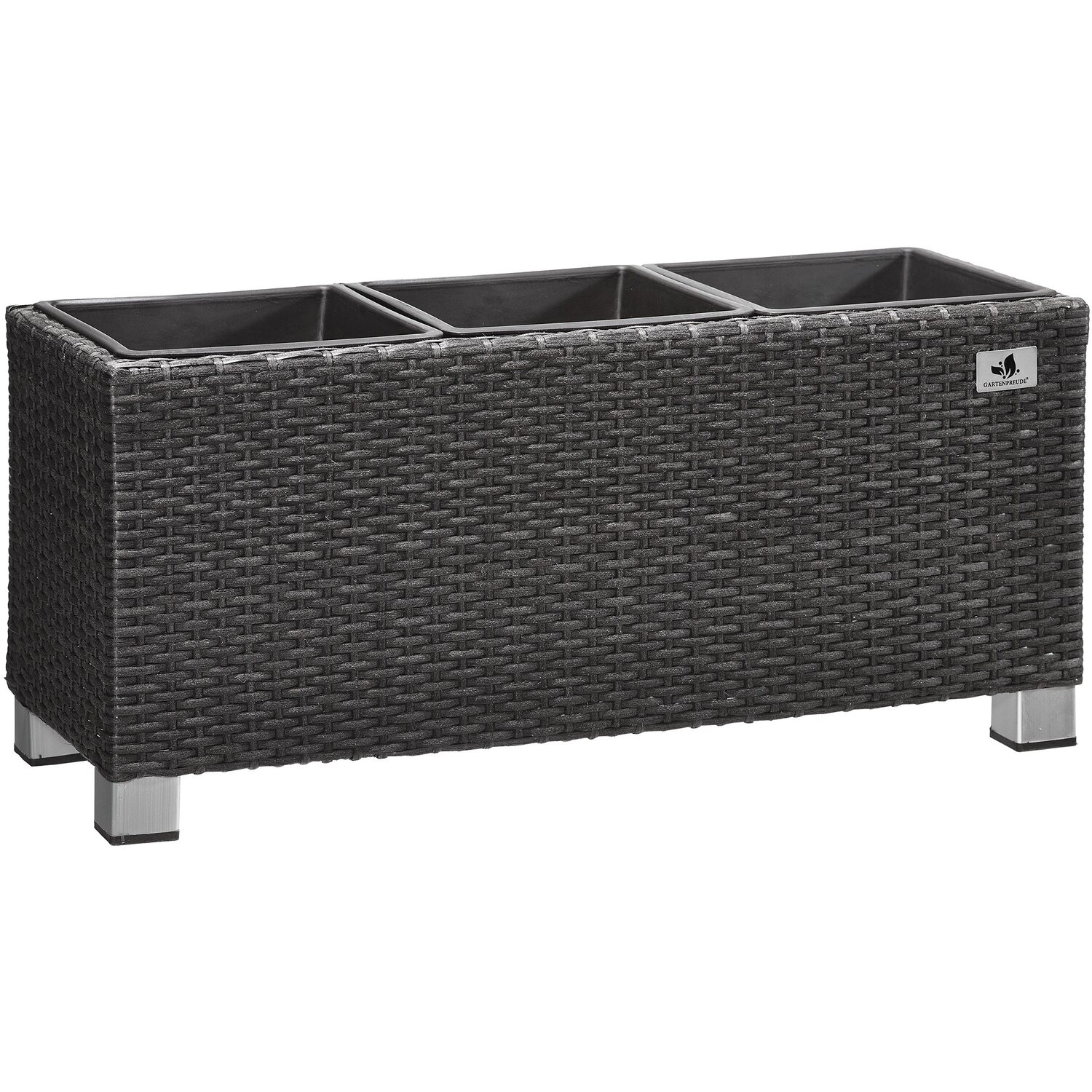 gartenfreude pflanzk bel polyrattan 78 cm x 27 cm anthrazit kaufen bei obi. Black Bedroom Furniture Sets. Home Design Ideas