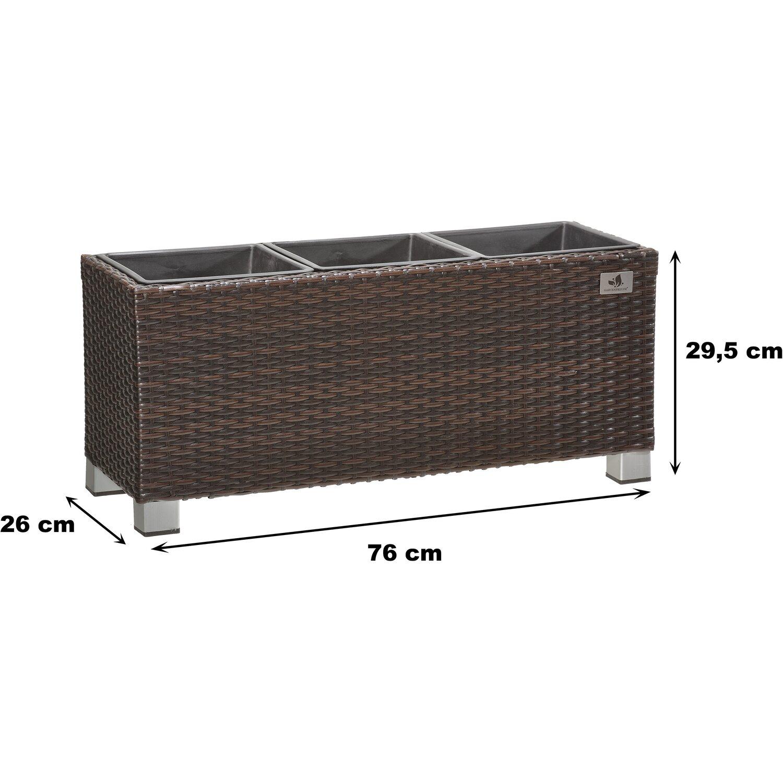gartenfreude pflanzk bel polyrattan 78 cm x 27 cm bicolour braun kaufen bei obi. Black Bedroom Furniture Sets. Home Design Ideas