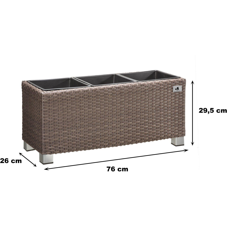 gartenfreude pflanzk bel polyrattan 78 cm x 27 cm mocca kaufen bei obi. Black Bedroom Furniture Sets. Home Design Ideas