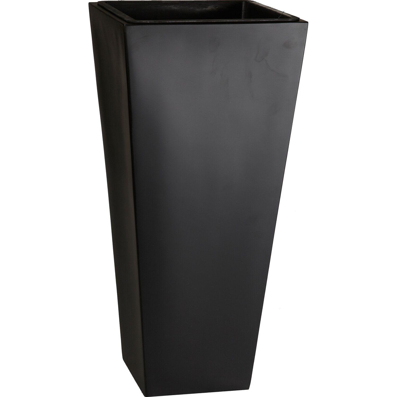 gartenfreude pflanzkübel fiberglas 28 cm x 28 cm schwarz kaufen bei obi