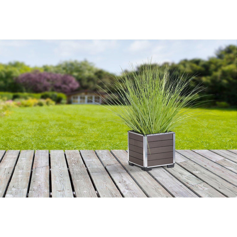 gartenfreude pflanzgef wpc eckig 26 cm x 26 cm braun kaufen bei obi. Black Bedroom Furniture Sets. Home Design Ideas