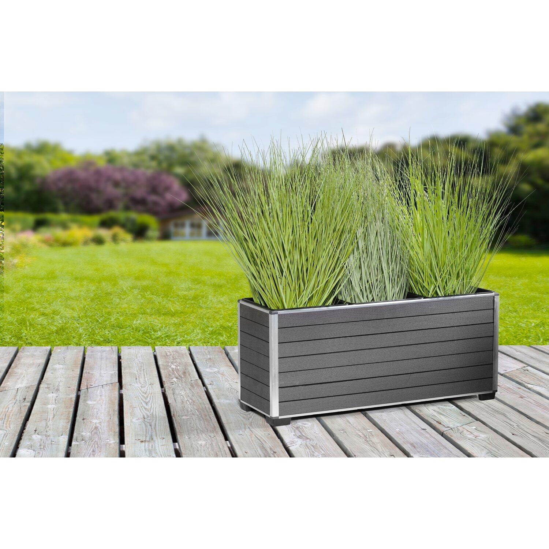 Gartenfreude Pflanzgefass Wpc Eckig 79 Cm X 27 Cm Anthrazit Kaufen