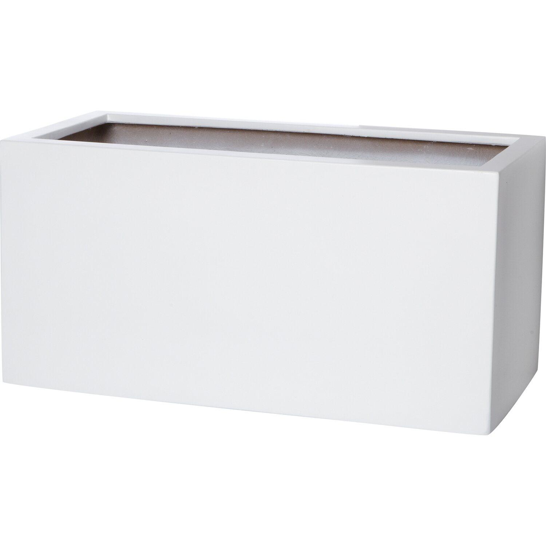 gartenfreude pflanzkübel fiberglas 60 cm x 30 cm weiß kaufen bei obi