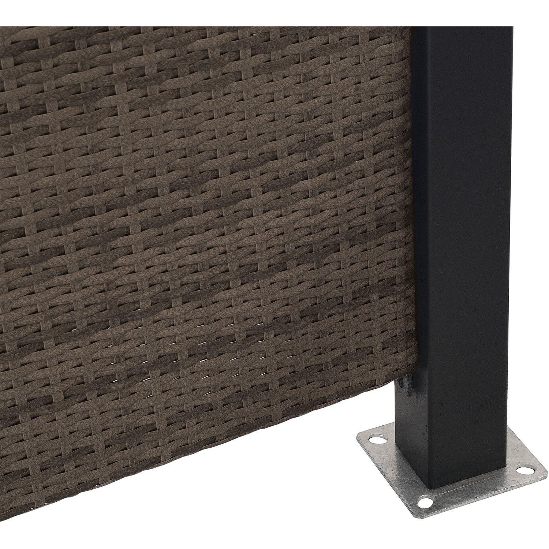 Sichtschutzzaun Element Ambience Polyrattan Cappuccino 180 cm x