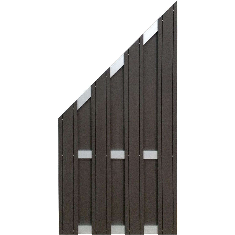 Gartenfreude  EVERFLOOR Gartensichtschutz WPC Alu Zaunelement, 90 x 180 / 90 cm, anthrazit