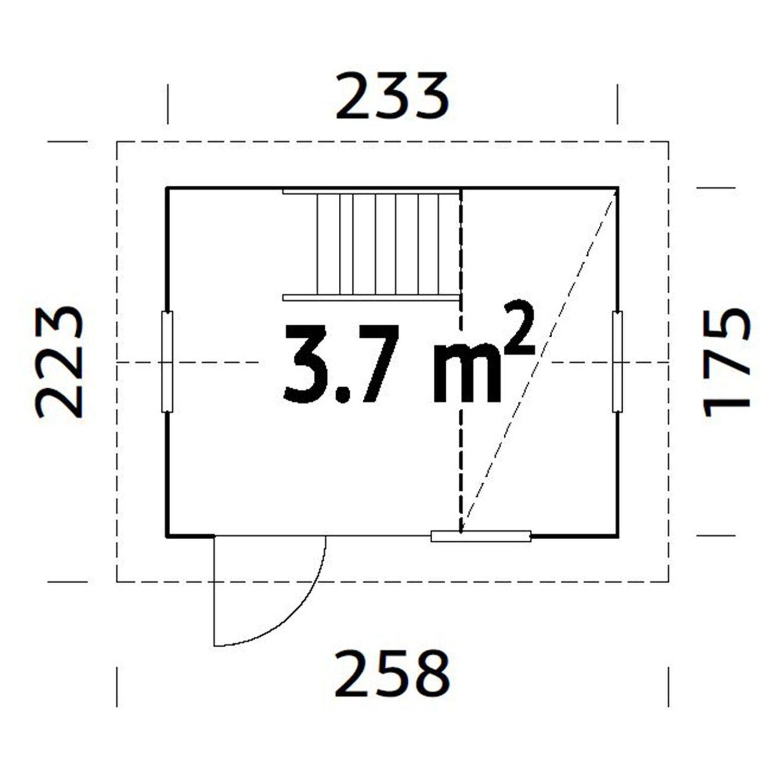 palmako spielhaus grete 220 cm x 258 cm x 223 cm kaufen bei obi. Black Bedroom Furniture Sets. Home Design Ideas
