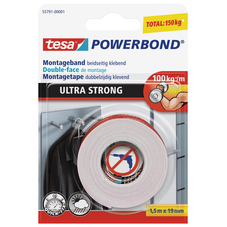 tesa powerbond montageband ultra strong 1 5 m x 19 mm