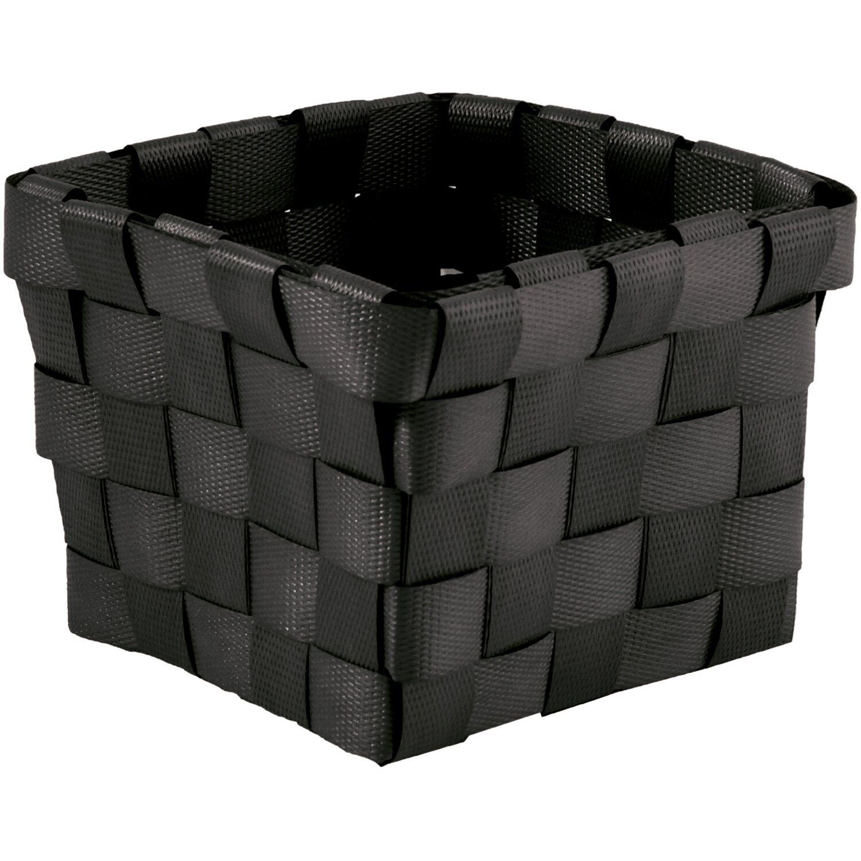 Aufbewahrungskorb PP-Geflecht Schwarz 10 cm x 10 cm x 7,5 cm