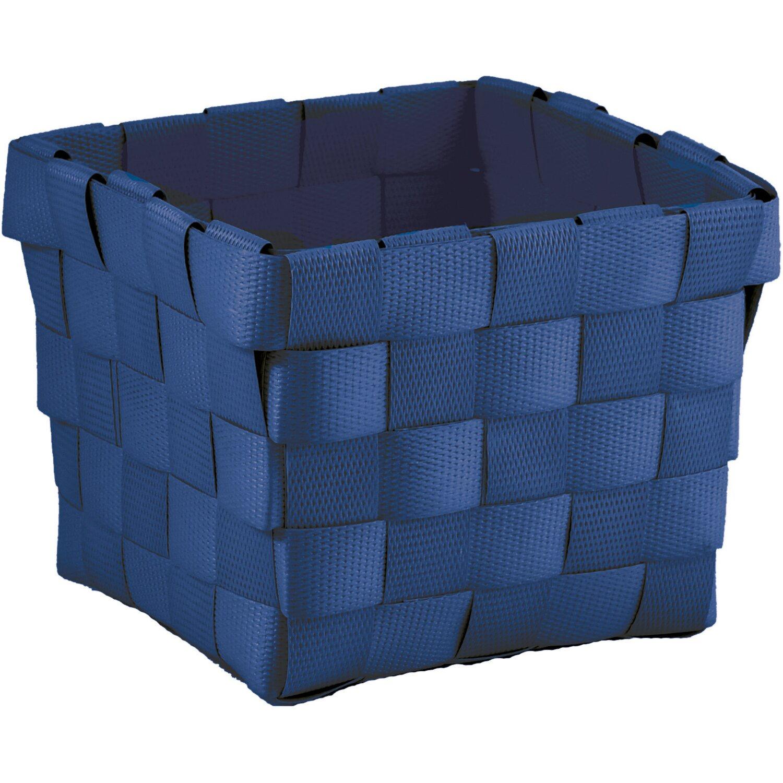 Aufbewahrungskorb PP-Geflecht Blau 10 cm x 10 cm x 7,5 cm