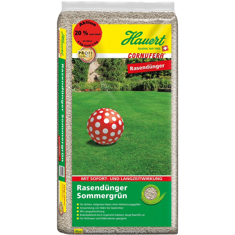Hauert  Cornufera Rasendünger Sommergrün 6 kg