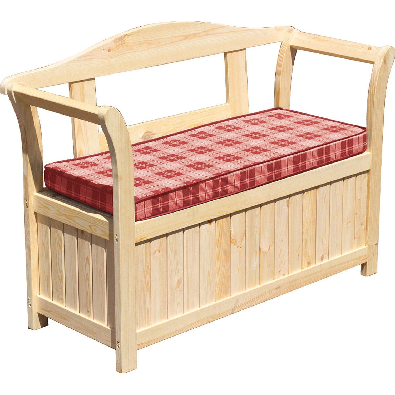 friesen gartenbank 2 sitzer mit kissenbox und rot. Black Bedroom Furniture Sets. Home Design Ideas