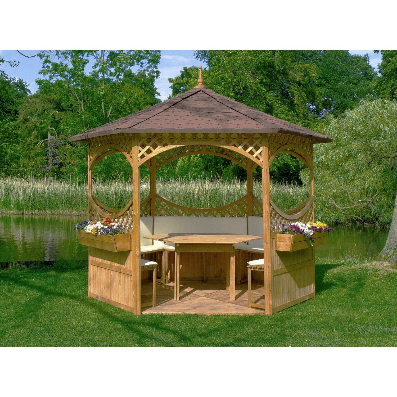sechseck pavillon palma 2 preisvergleich fertighaus. Black Bedroom Furniture Sets. Home Design Ideas