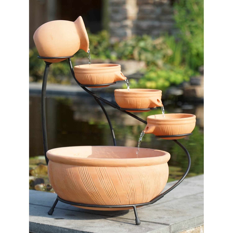 Acquaarte terrassenbrunnen set wasserschalen 36 cm terracotta kaufen bei obi for Terracotta gartendekoration