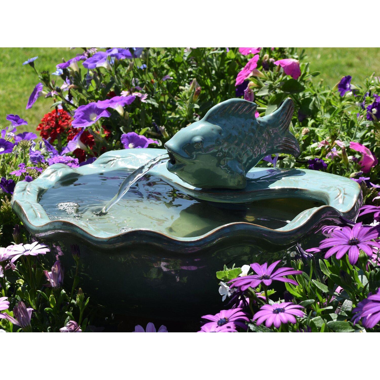 AcquaArte  Terrassenbrunnen-Set Arkasa 19 cm x 40 cm x 35 cm Keramik Türkis