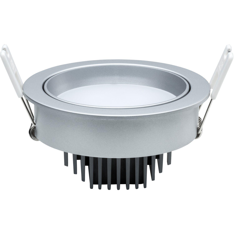 NicePrice LED-Einbauleuchten 3er-Set EEK: A-A++ Chrom matt ...