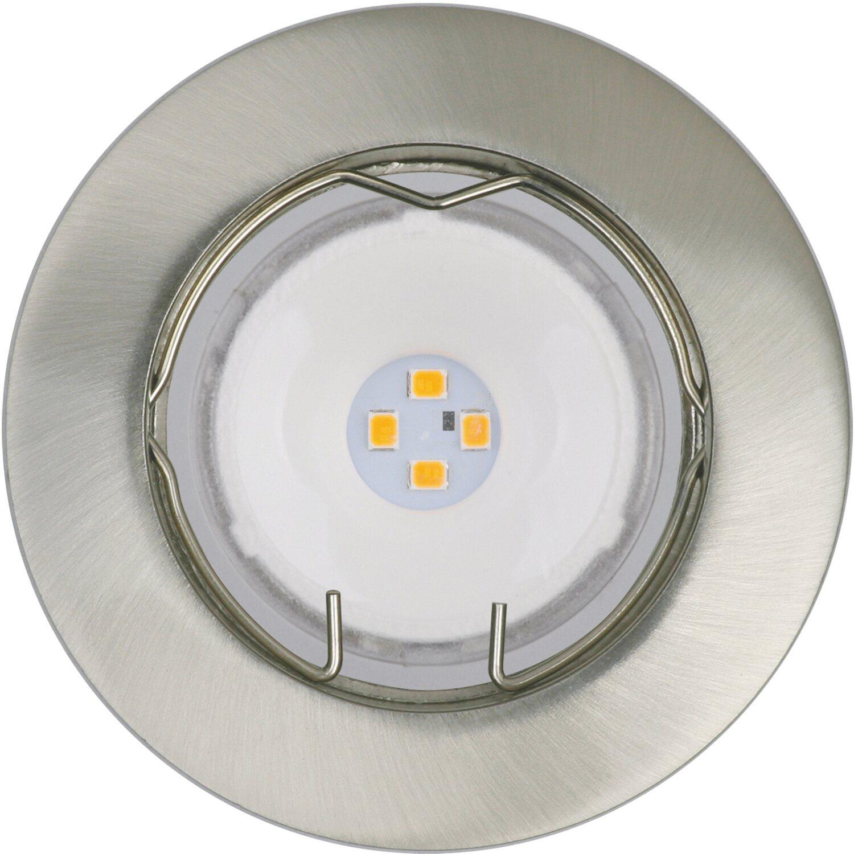 OBI LED Einbauleuchten 3er Set Nickel Gebürstet EEK: A+