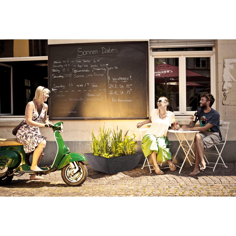 heissner wassergarten set fiberstone schwarz rund kaufen. Black Bedroom Furniture Sets. Home Design Ideas