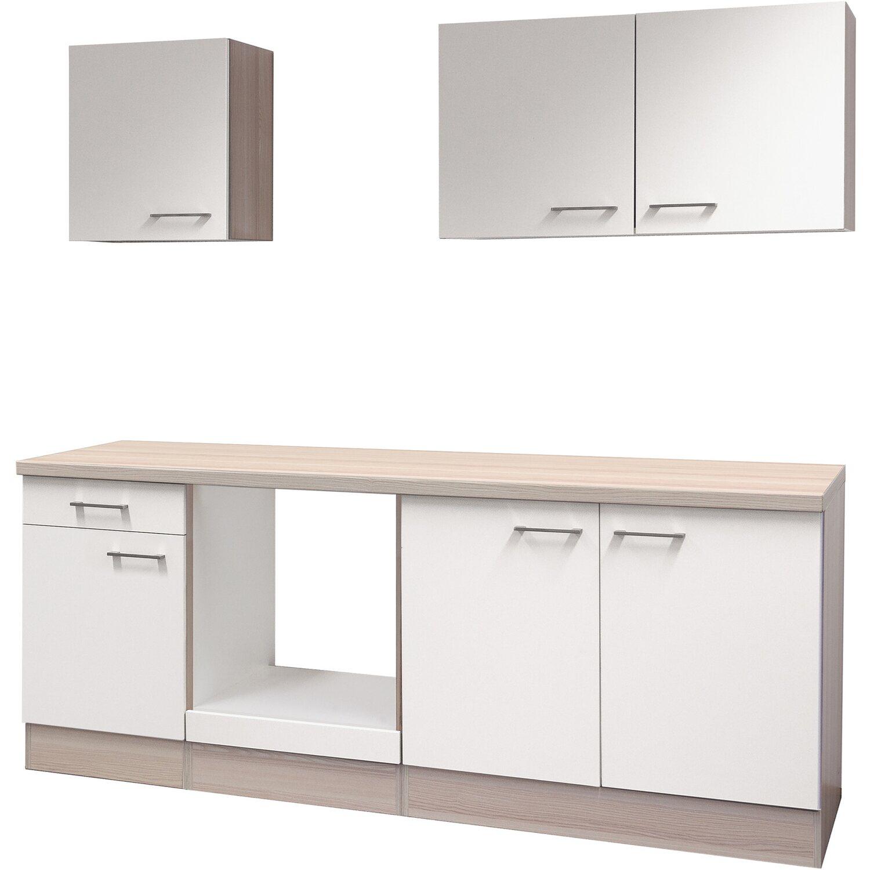 flex well k chenzeile 210 cm ohne e ger te abaco perlmutt. Black Bedroom Furniture Sets. Home Design Ideas