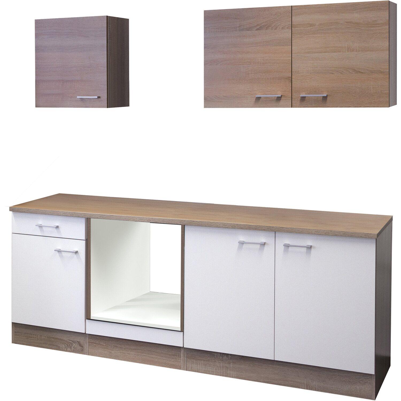 flex well k chenzeile 210 cm ohne e ger te florida wei. Black Bedroom Furniture Sets. Home Design Ideas