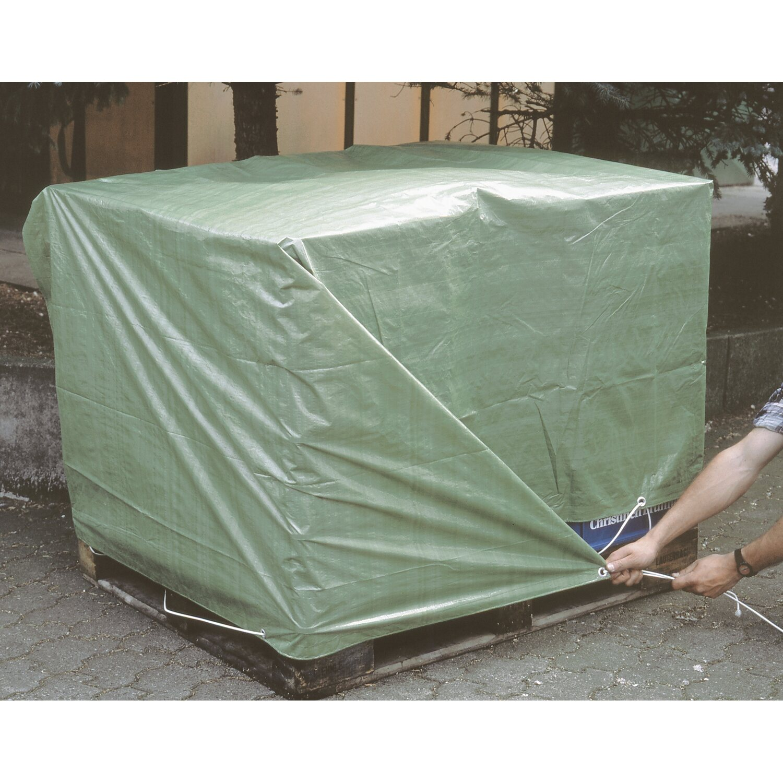 Lux abdeckplane 6 m x 8 m gr n kaufen bei obi for Abdeckplane obi