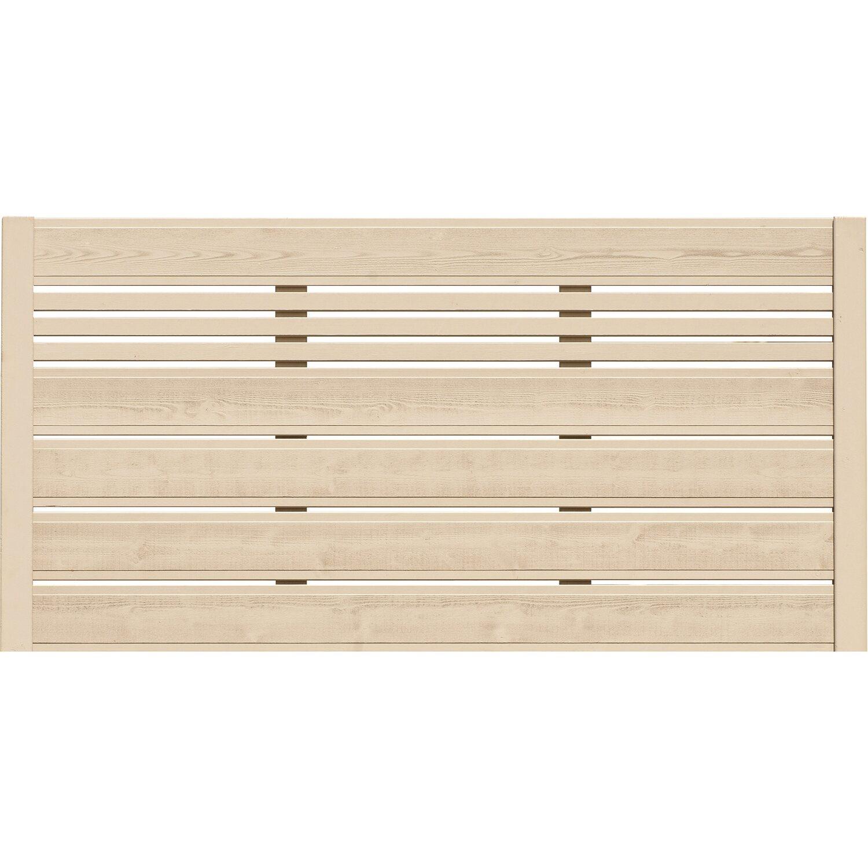 BM Massivholz Sichtschutzzaun-Element Typ 130 180 cm x 90 cm Sandfarben