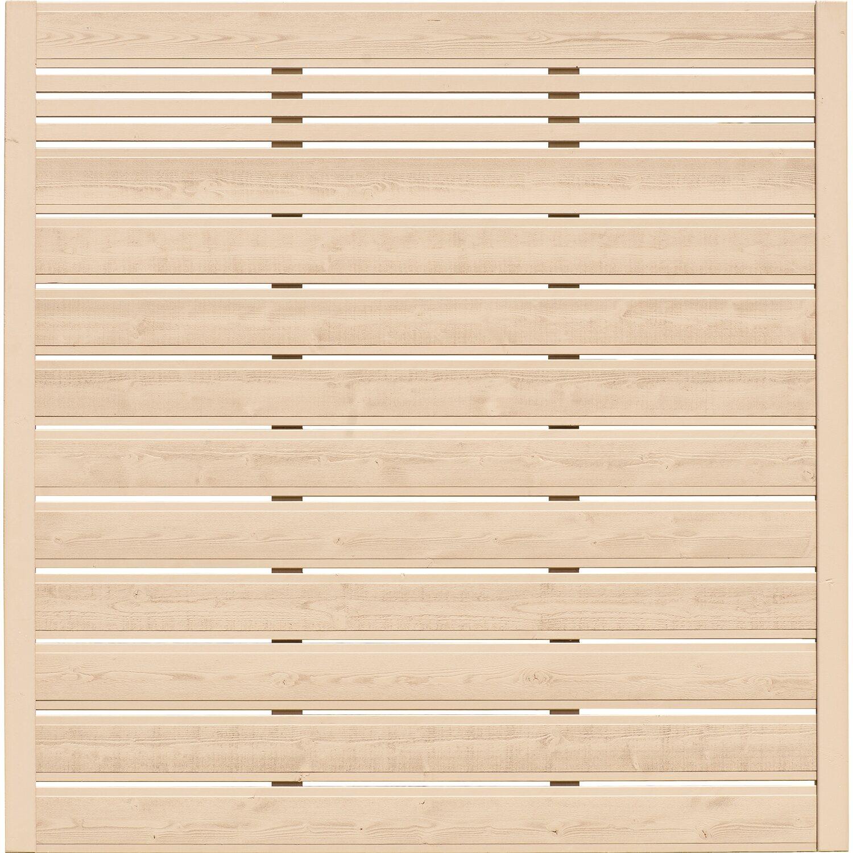 BM Massivholz Sichtschutzzaun-Element Typ 130 180 cm x 180 cm Sandfarben
