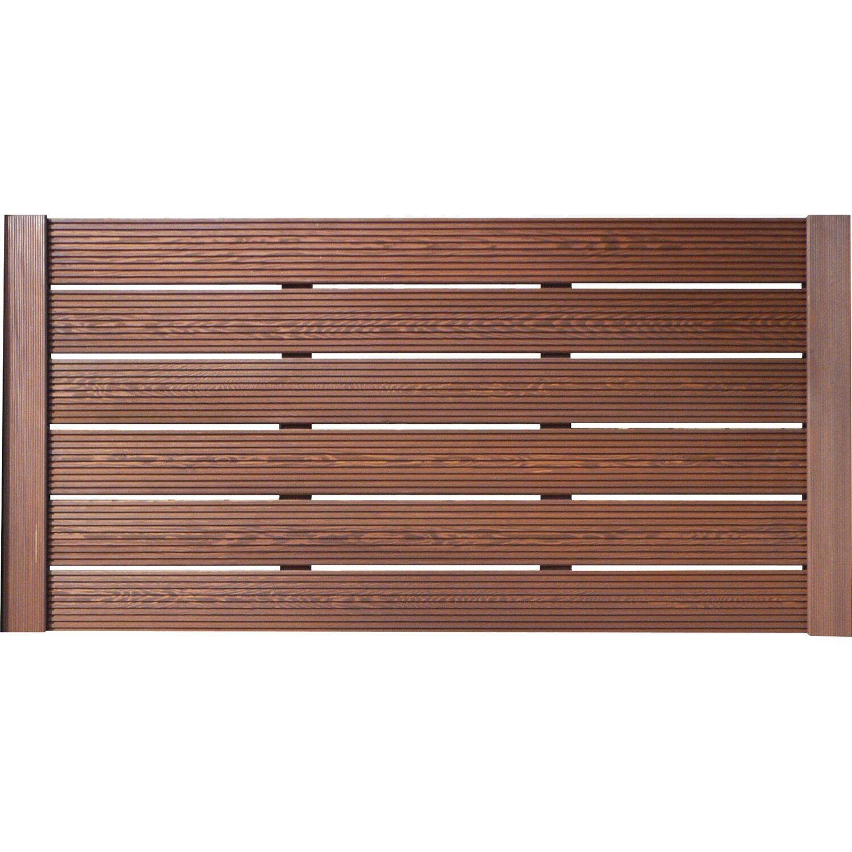 BM Massivholz Sichtschutzzaun-Element Typ 136 180 cm x 90 cm Tabakfarben