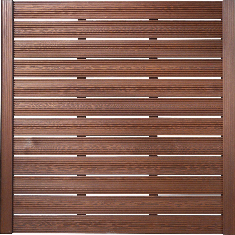 BM Massivholz Sichtschutzzaun-Element Typ 136 180 cm x 180 cm Tabakfarben