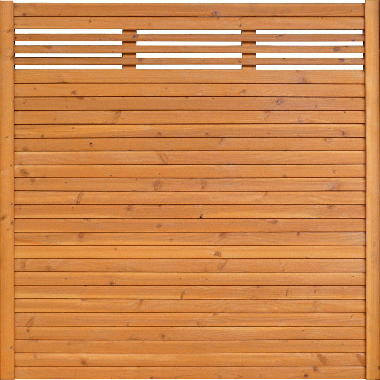 BM Massivholz Sichtschutzzaun-Element Typ 138 180 cm x 180 cm Kirschbaumfarben