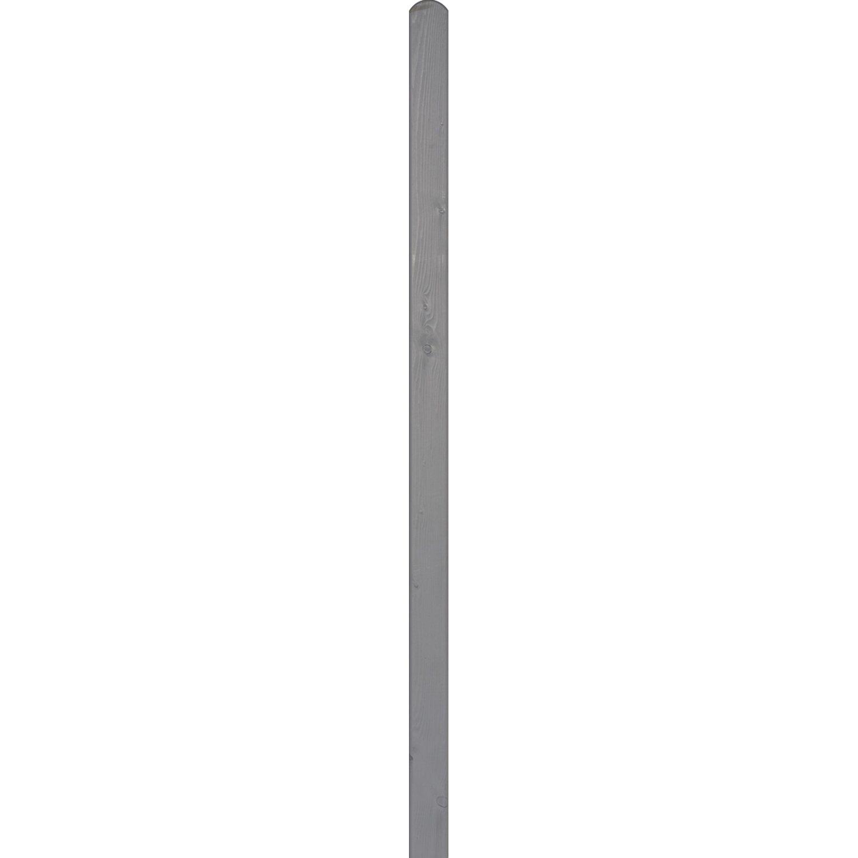 BM Massivholz Pfosten Fichte 9 cm x 9 cm x 100 cm Basaltgrau