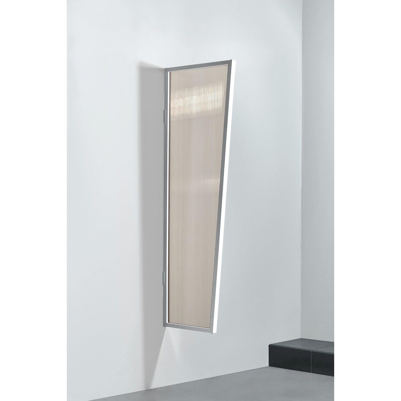 Gutta  Seitenblende B2 Stegplatte Bronce Weiß 175 cm x 60 cm x 45 cm